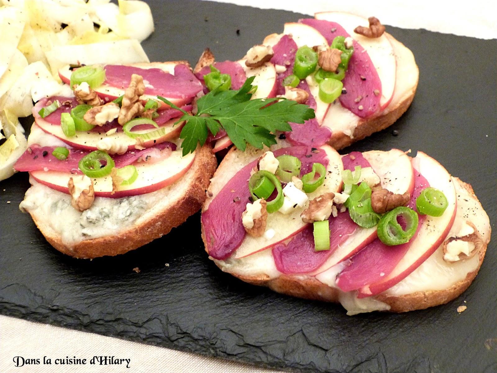 Dans la cuisine d 39 hilary bruschetta au gorgonzola magret - Cuisiner un magret de canard au four ...