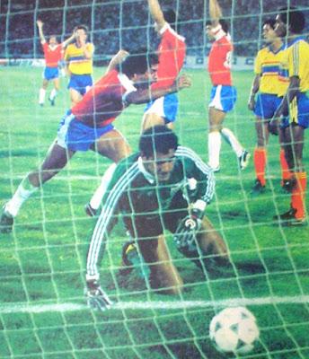 Chile y Ecuador en Clasificatorias a México 1986, 17 de marzo de 1985