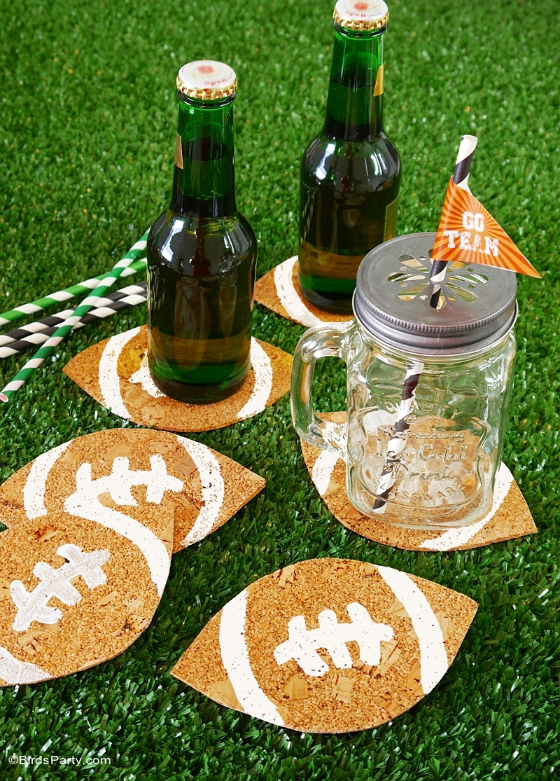 Fruity Beer Cocktail Recipe & DIY Football Coasters - BirdsParty.com