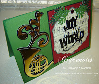 Joy to the World, music themed Christmas card, by Grace Baxter