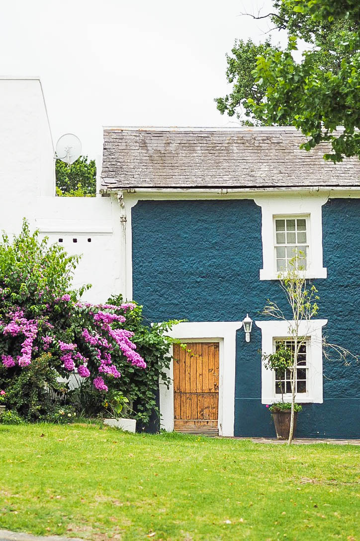 Blue painted house in Swellendam, South Africa