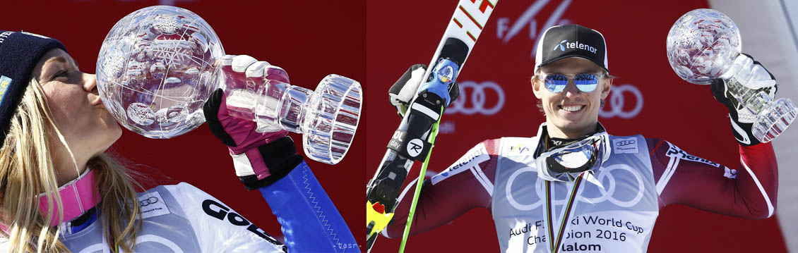 Hansdotter, Kristoffersen St Moritz 2016 globus