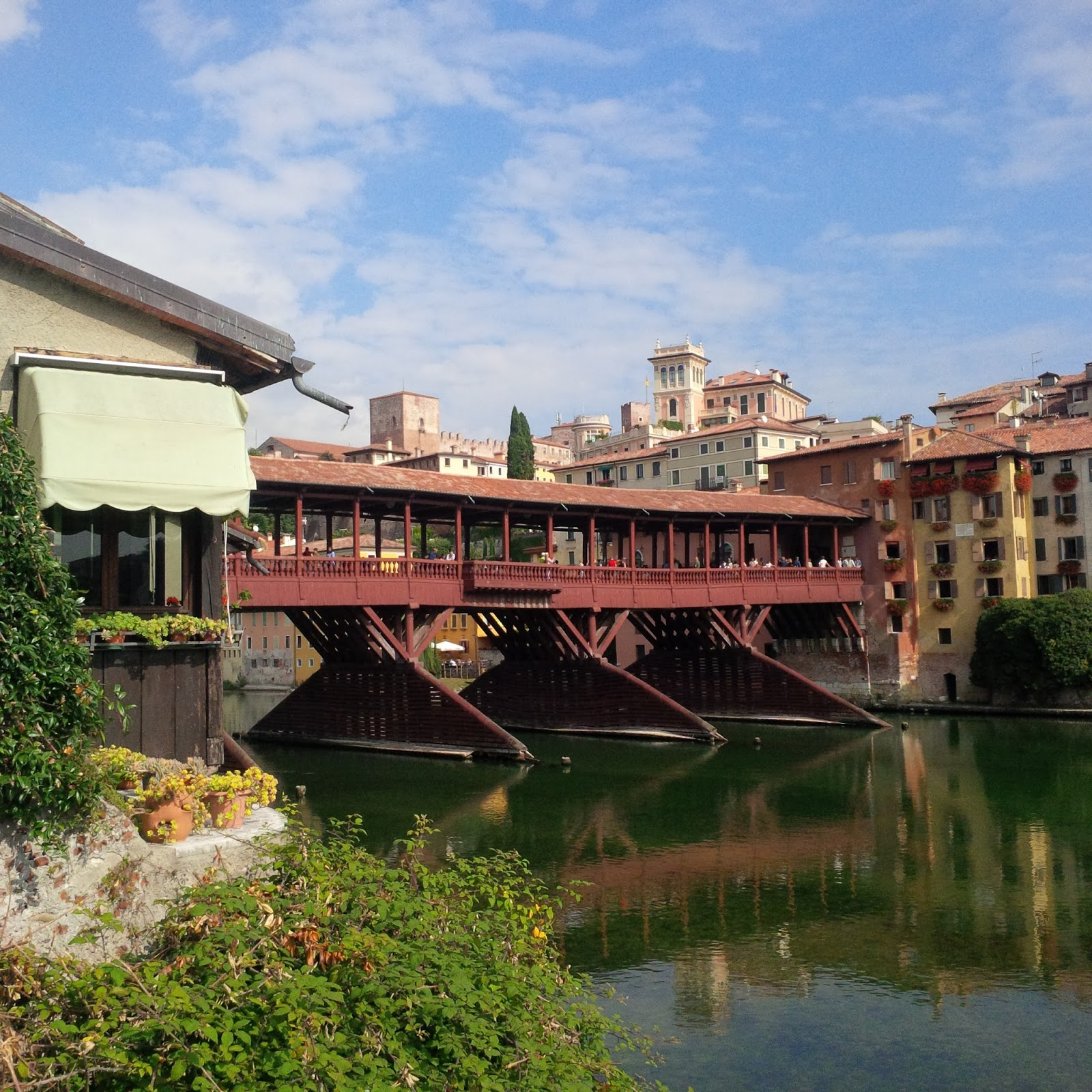 The Alpini Bridge designed by Andrea Palladio in Bassano del Grapa, Veneto, Italy - www.rossiwrites.com
