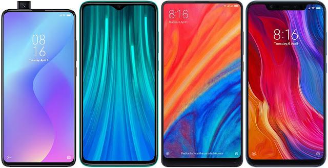 Xiaomi Mi 9T vs Xiaomi Redmi Note 8 Pro vs Xiaomi Mi Mix 2s vs Xiaomi Mi 8