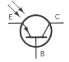 Transistor Symbol - Phototransistor PNP