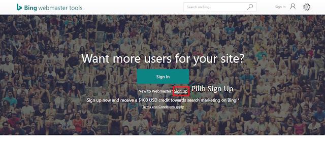 Cara Daftar dan Verifikasi Blog di Bing