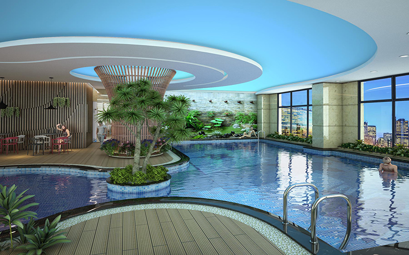 Bể bơi bốn mùa tại Housinco Premium