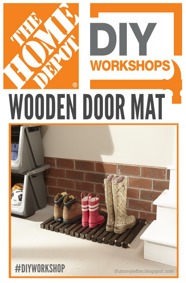 DIY wooden door mat workshop