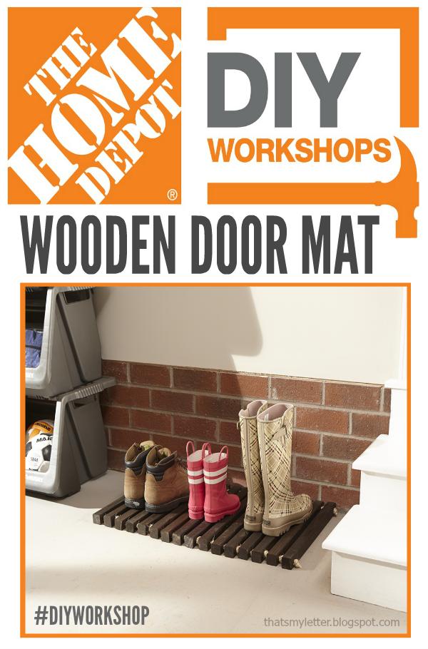 DIY wooden door mat workshop