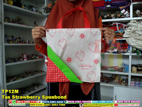 jual Tas Strawberry Spunbond