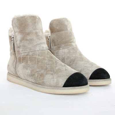 chanel shearling fur boots