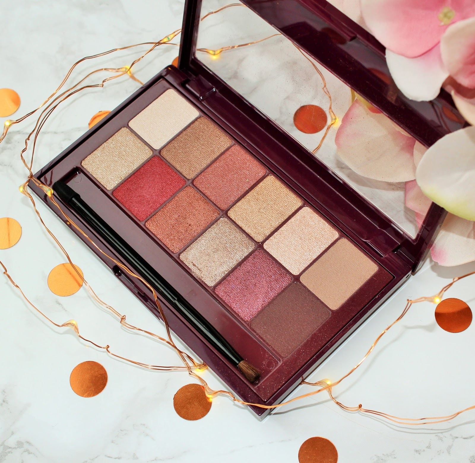 Maybelline The Burgundy Bar Eyeshadow Palette Review - 2