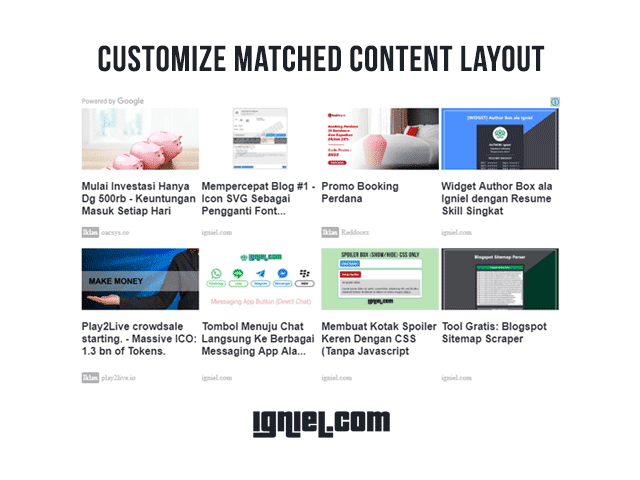How To Customize Layout of Matched Content Unit