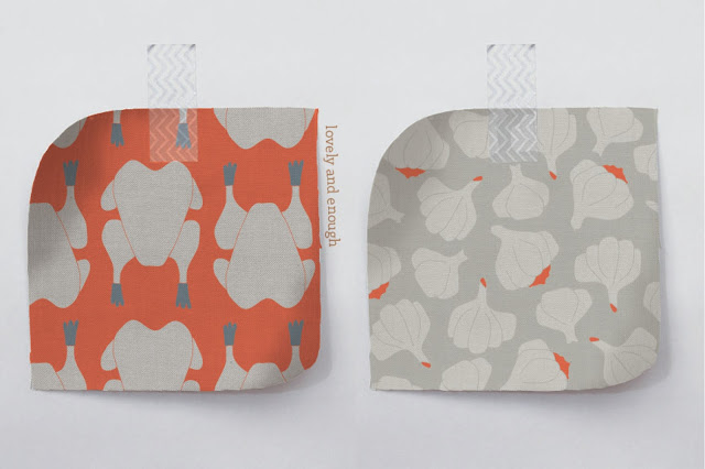 modern Thanksgiving-themed coral and tan pattern design | Lovely and Enough
