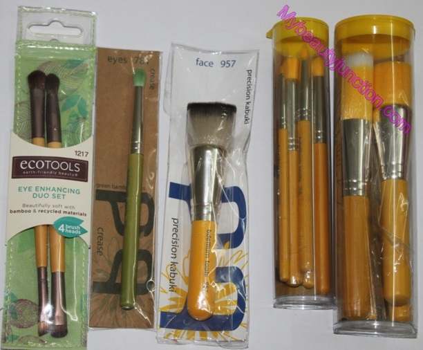Bdellium Tools and EcoTools makeup brushes hauled from iHerb
