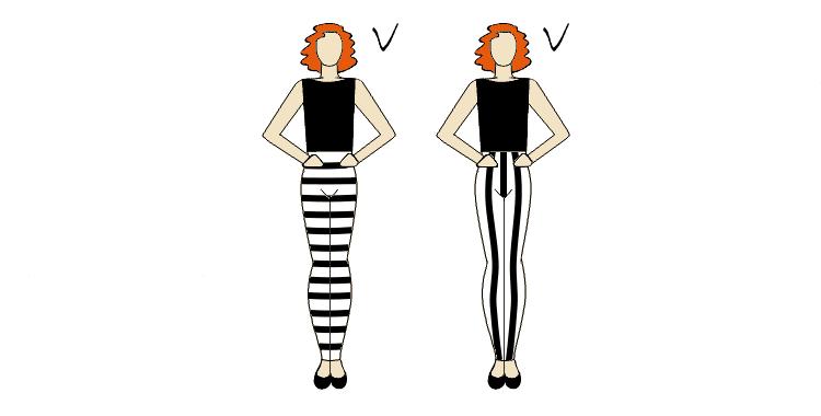 talia podkreślona wzorem spodni