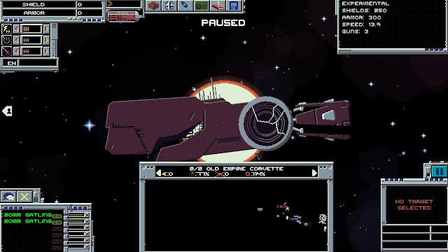 Screenshot of ship being destroyed in Interstellaria