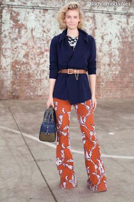 Pantalones de moda palazzo