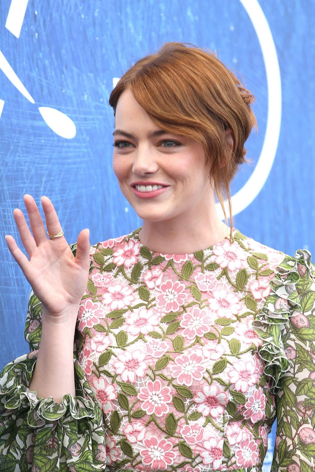 Emma Stone At La La Land Photocall At 73rd Venice Film Festival