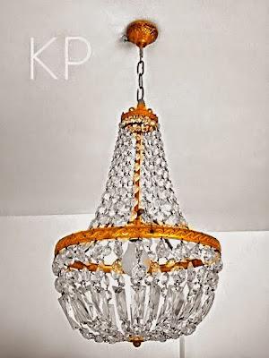 chandelier francesa de cristales vintage