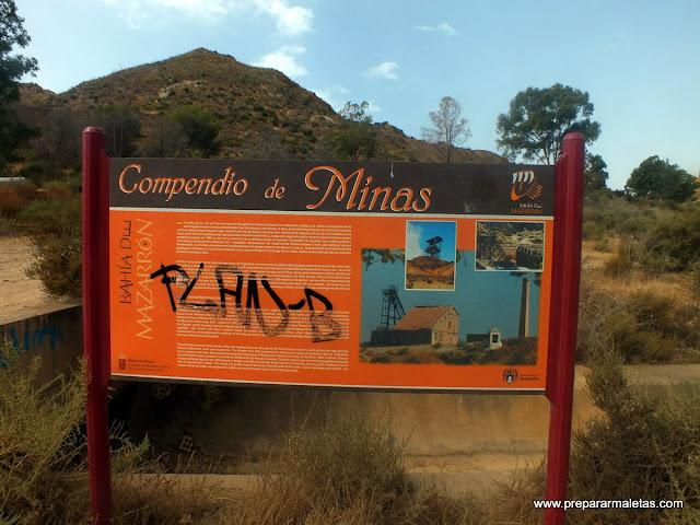 panel informativo de las minas de mazarrón