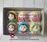Cupcake Fondant 2D Ulang Tahun Mama