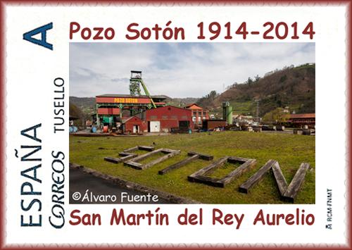 Sello personalizado del Centenario del Pozo Sotón, Alvaro Fuente