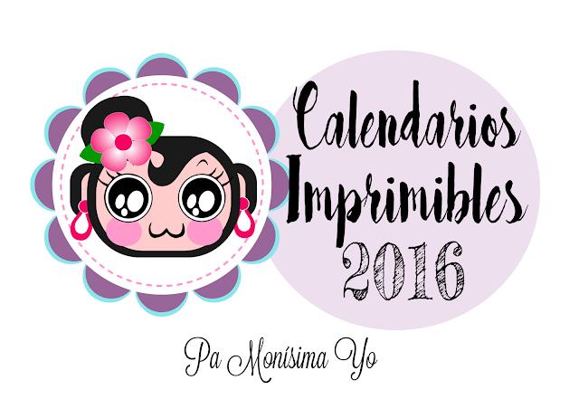 Calendario 2016 freebie imprimible mensual y anual monerias pamonisimayo