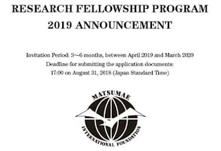 Research Fellowships in Japan by Matsumae International Foundation