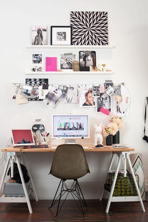 cadeiras Eiffel na decoração home office