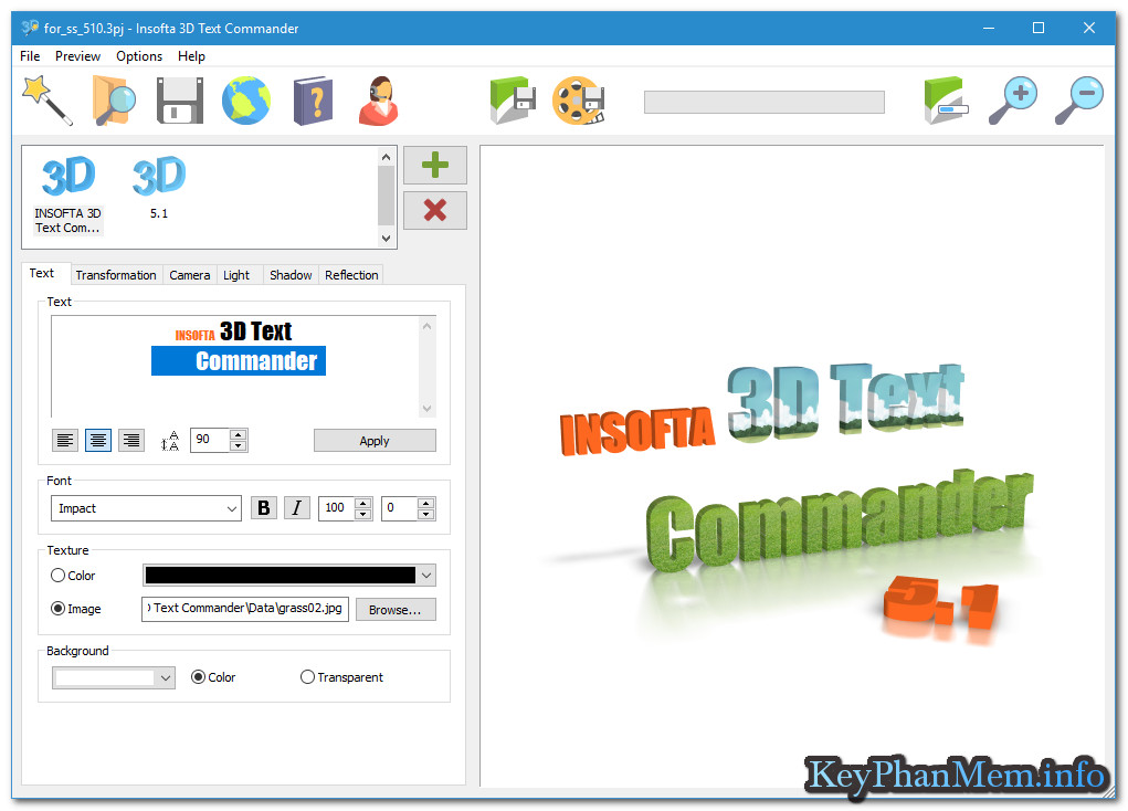 Download Insofta 3D Text Commander 5.1.0 Full Key, Phần mềm chuyển văn bản sang 3D chuyên nghiệp