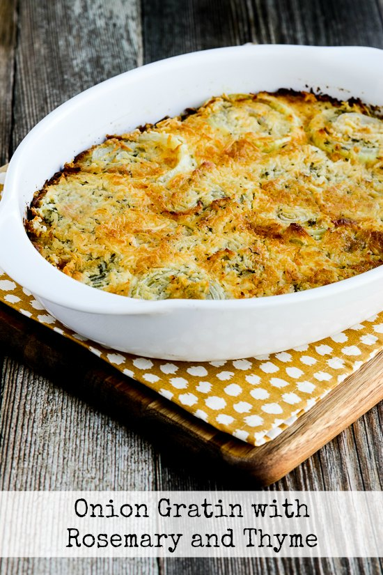 Onion Gratin with Rosemary and Thyme - Recipes
