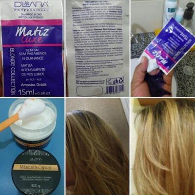 Shampoo Matix Luxe e Máscara Capilar D'lara Professional