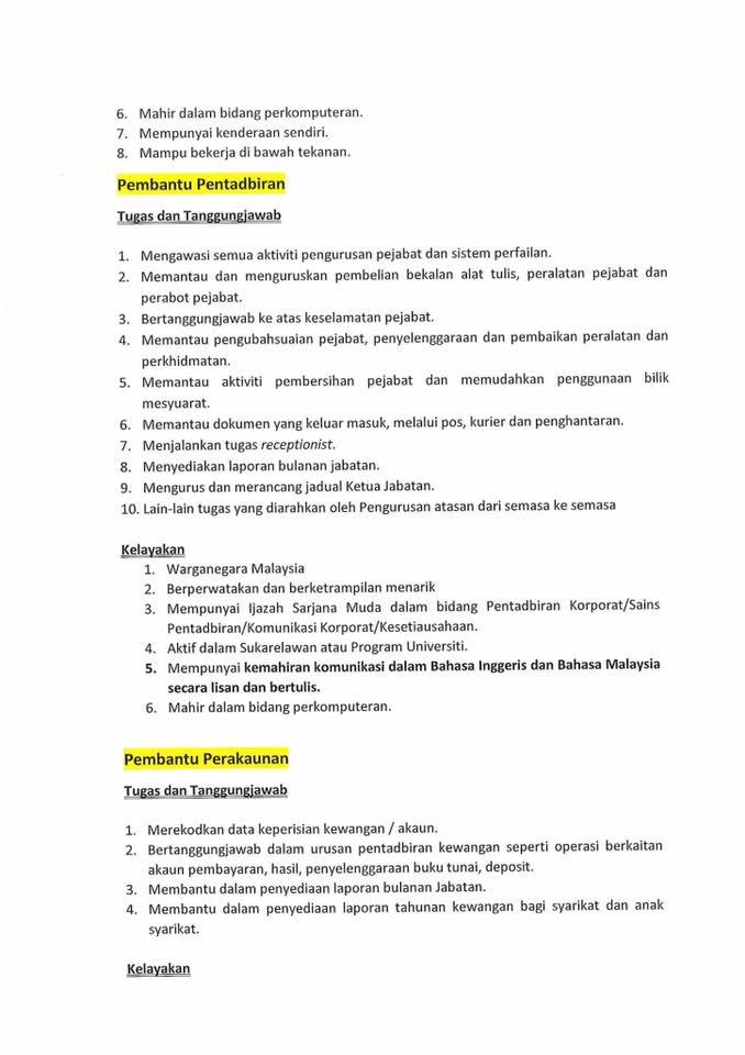 Iklan Jawatan Kosong Permodalan Darul Ta'zim Sdn Bhd - Tutup