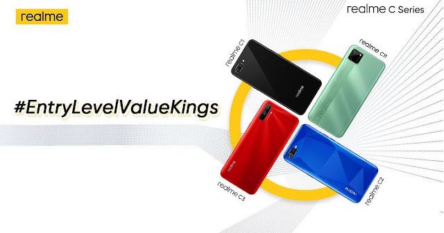 مواصفات هاتف  Realme C12 و Realme C15