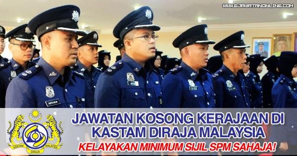 Jawatan Kosong Kastam Di Sabah 2018 - Johorer