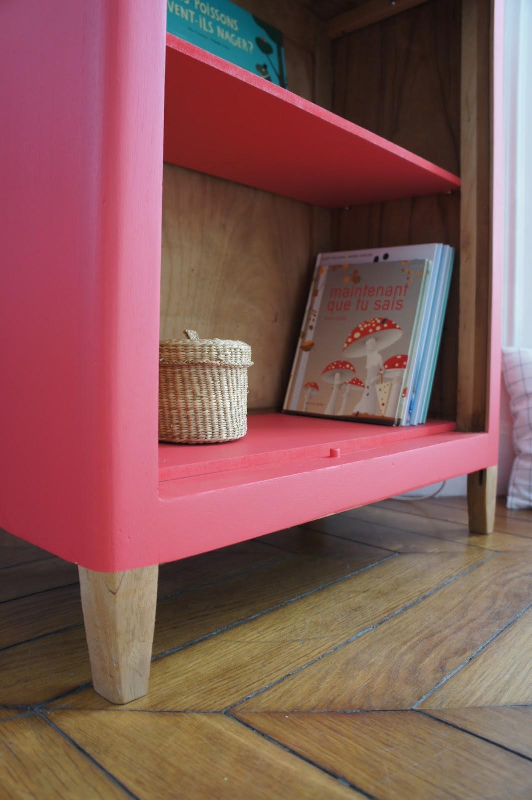 atelier petit toit la biblioth que vintage d 39 eug nie revisit e sur commande. Black Bedroom Furniture Sets. Home Design Ideas