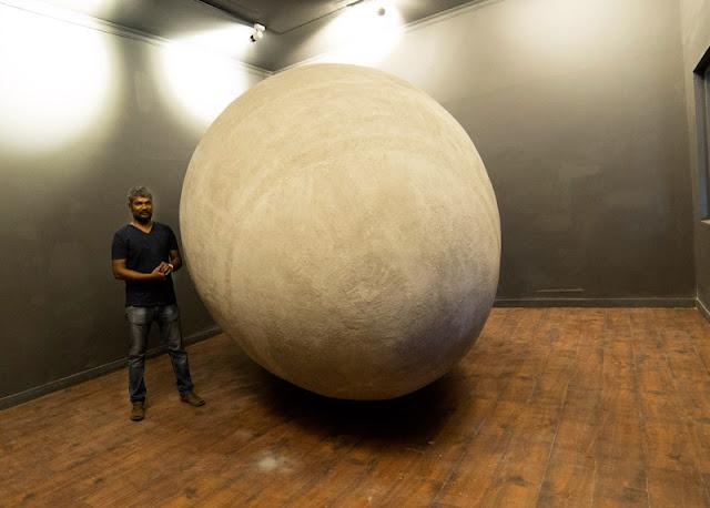 Kochi-Muziris Biennale _G R Iranna's installation 'GARBH' at KMB 2016 in Aspinwall House,Fort Kochi