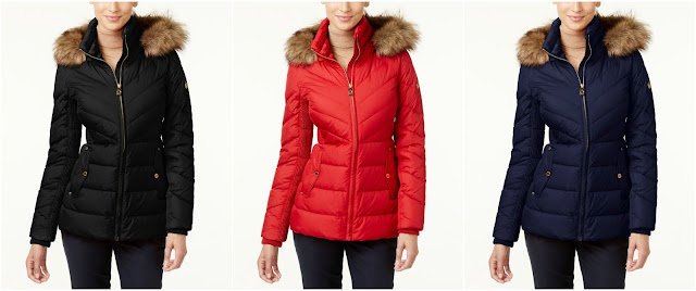 Michael Michael Kors Faux Fur Trim Hooded Puffer Coat $119 (reg $280)
