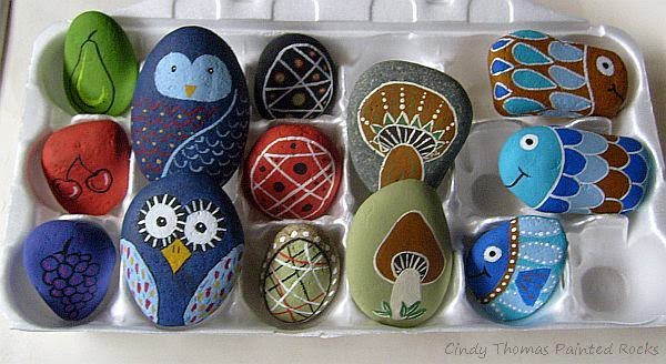 Painting Rock Stone Animals Nativity Sets More 5 Easy And