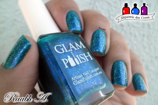 Glam Polish, Glam Polish Zoya the Destroya, teal, turquesa, holo, glitter, esmalte holográfico, shimmer, Raabh A. 2018
