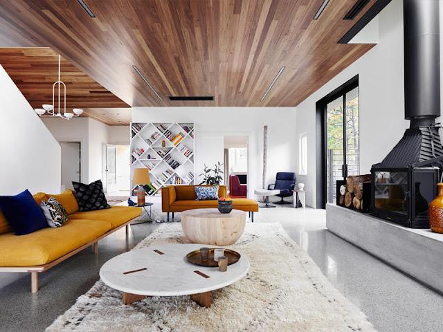 madeira no teto, blog Achados de Decoração