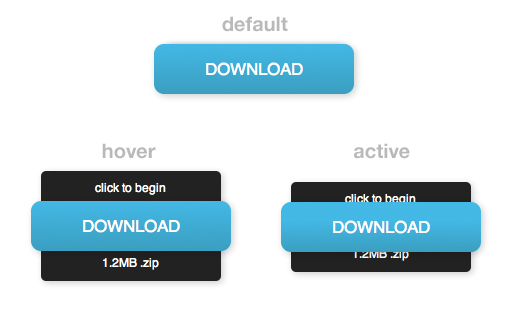 CSS3 Animated Download Button for Blogger