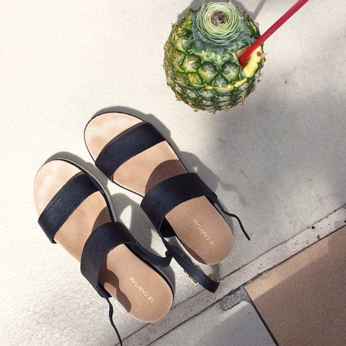 Le Chateau summer sandals blogger