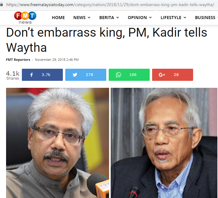Malaysians Must Know The Truth The Present Ph Especially This Cabinet Will Not Survive Without Tun Dr Mahathir