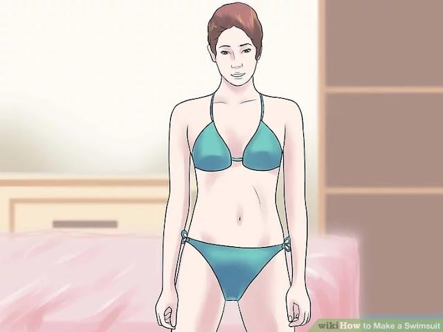 eski kıyafetten bikini yapılışı