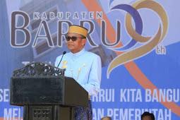 Nurdin Abdullah Hadiri Puncak Peringatan HUT ke 59 Kabupaten Barru