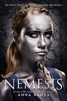 "The cover of the new young adult novel ""Nemesis"" by Anna Banks."