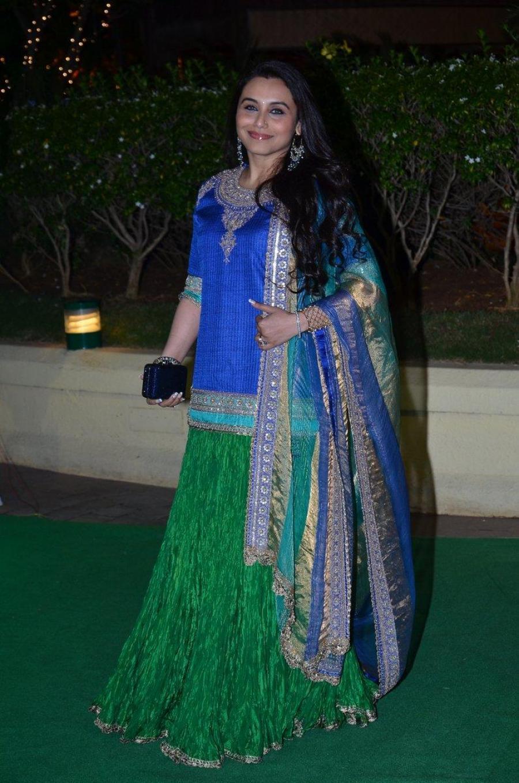 Rani Mukerji Smiling Photos In Green Dress