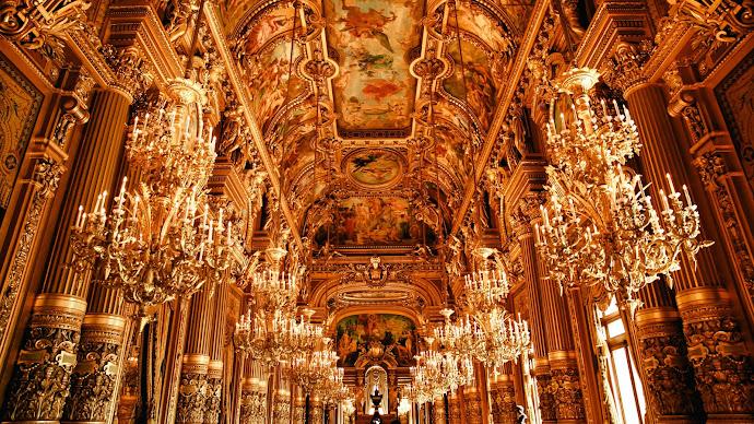 Wallpaper: Inside Opera House in Paris